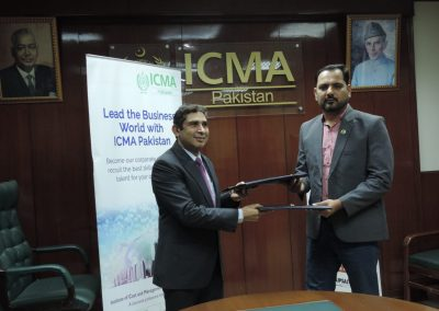 MOU WITH INSTITUTE OF COST & MANGEMENT ACCOUNTANT PAKISTAN (ICMA)